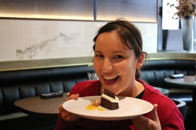 Me and my dessert in Gastown, Vancouver