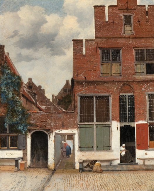 "Vermeer's painting ""The Little Street"" (official name: ""View of Houses in Delft"")"