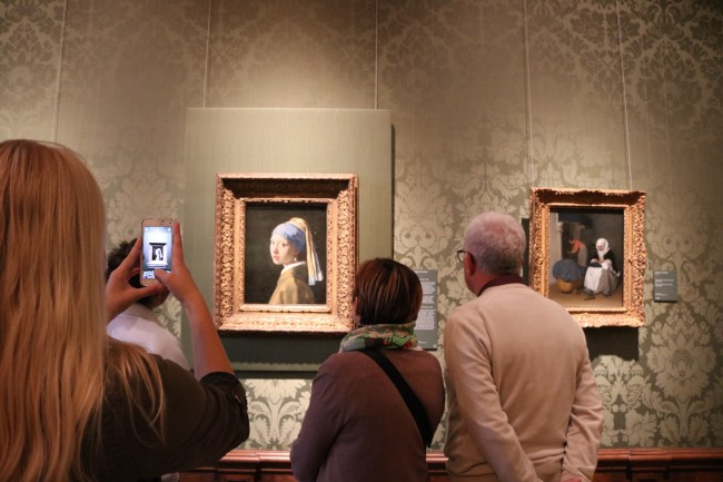 "The painting ""Girl with the Pearl Earring"" at the Mauritshuis Museum in The Hague"