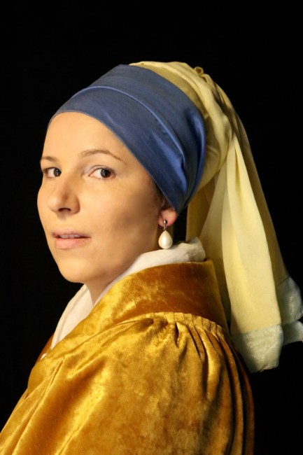 Me as the Girl with a Pearl Earring