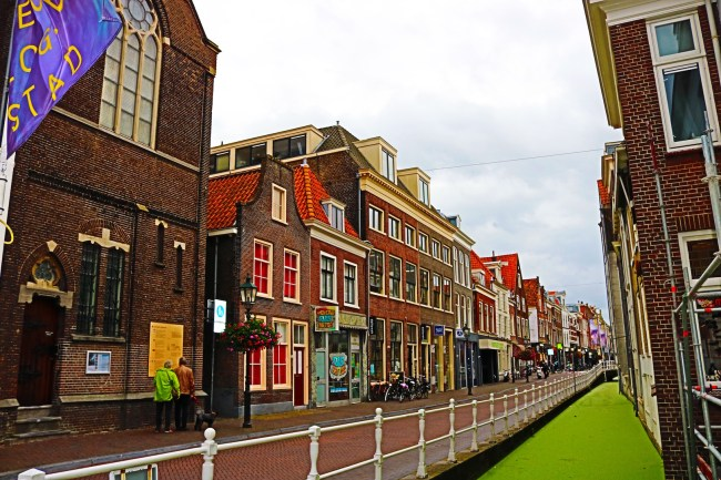 His house is gone, but this is the exact street where Johannes Vermeer lived with his family in Delft.