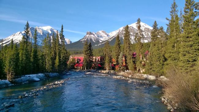 A mobile shot in the village of Lake Louise. Photo: Sonja Irani