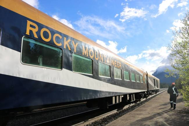 The Rocky Mountaineer in West Canada. Photo: Sonja Irani