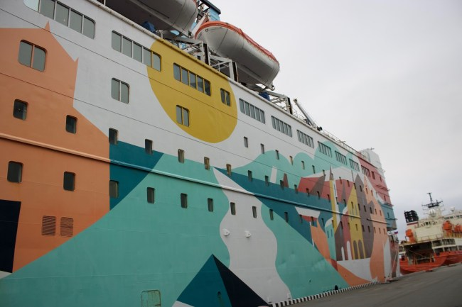 "We arrived on the colourful ferry ""Princess Anastasia"""