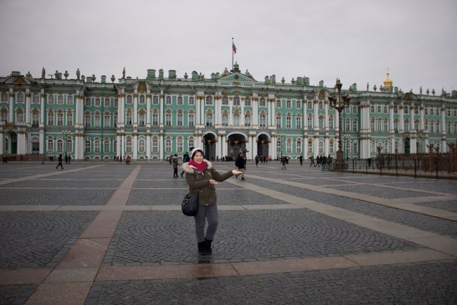 Me in St Petersburg. Photo: Sonja Irani
