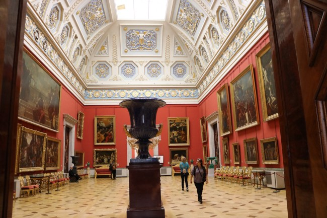 Inside the Hermitage Museum in St Petersburg, Russia