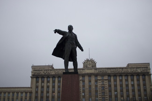 Lenin Memorial in St Petersburg, Russia