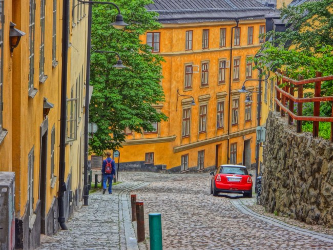Cobbled streets in Södermalm