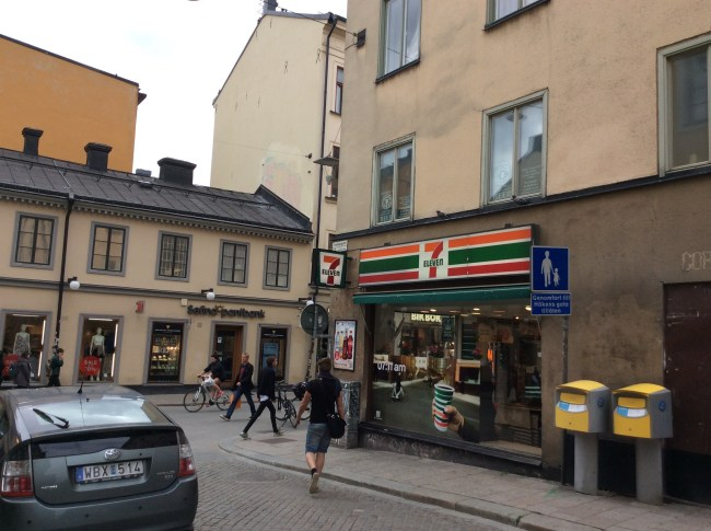 "The 7-Eleven where Lisbeth goes shopping is located in an area of Stockholm which has the highest ""hipster density"""