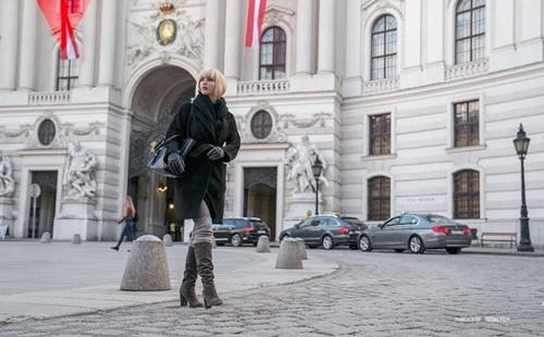 Jennifer Lawerence aka Dominika at the Michaelerplatz in Vienna. © 2018 Twentieth Century Fox