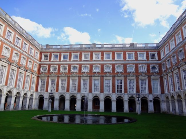 """Fountain Court"" at Hampton Court Palace. Photo by © Sonja Irani / FilmFanTravel.com"
