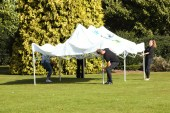 Setting up. JRF fun day, Homestead Park