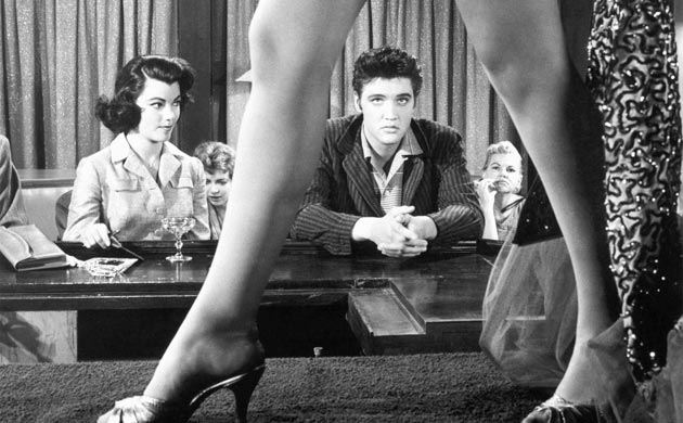 Elvis in possibly his most recognized film JAILHOUSE ROCK