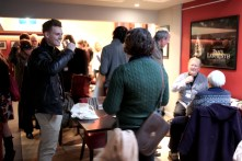 Delegates arrive and register for the Screening Days at Duke's at Komedia, Brighton