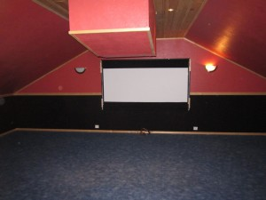 Empty home theater