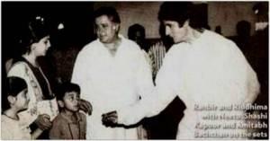 Amitabh Bachchan tweets a cute childhood pic of Ranbir Kapoor.