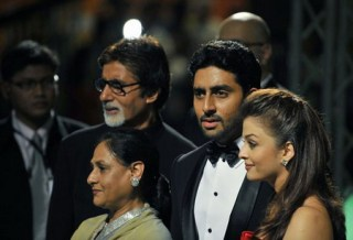 Bachchans on rare family outing to watch `Kung Fu Panda 2`