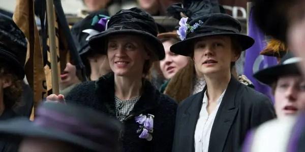 Anne-Marie Duff & Carey Mulligan in Suffragette