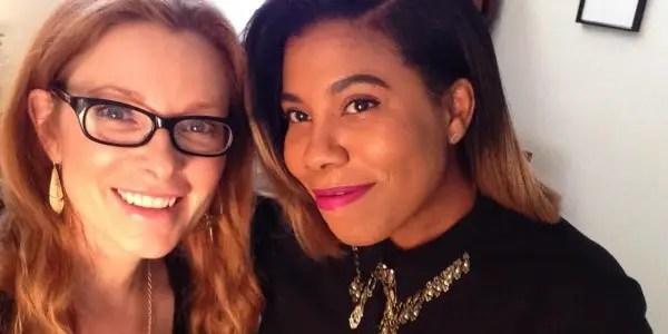 McClain with director Araeia Robinson