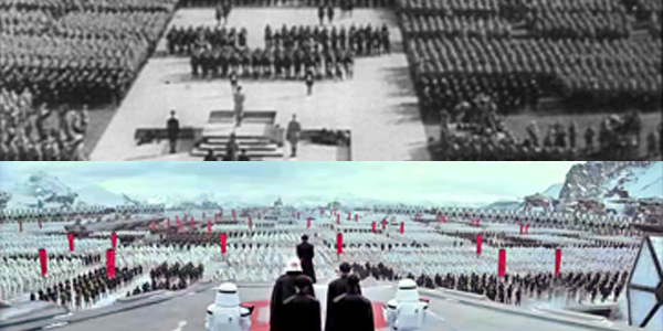 Triumph of the Will (1935) - source: Leni Riefenstahl-Produktion Star Wars: Episode VII - The Force Awakens - source: Lucasfilm
