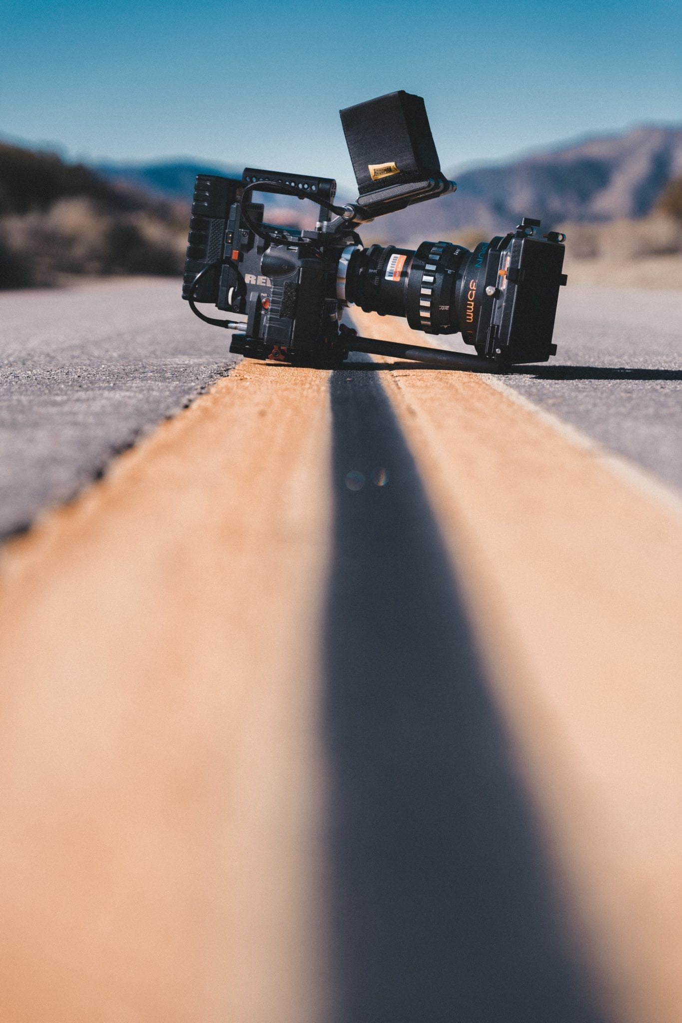 RED camera in the middle of the street is the key to becoming a profitable freelance filmmaker
