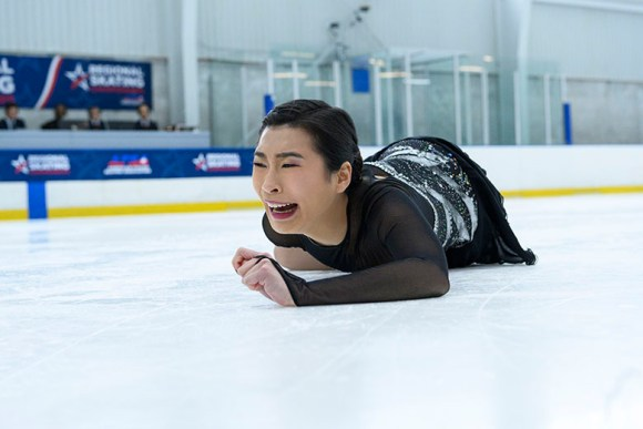 Spinning Out filming locations. Jenn falling at ice rink at Regional's