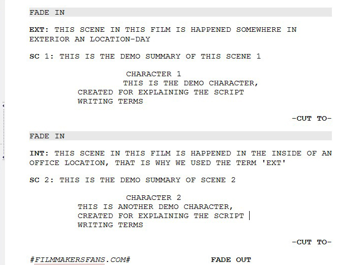 interesting screenplay in the office