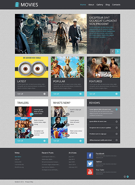 20+ Top Selling and Free WordPress Themes For Movies and Film Festivals