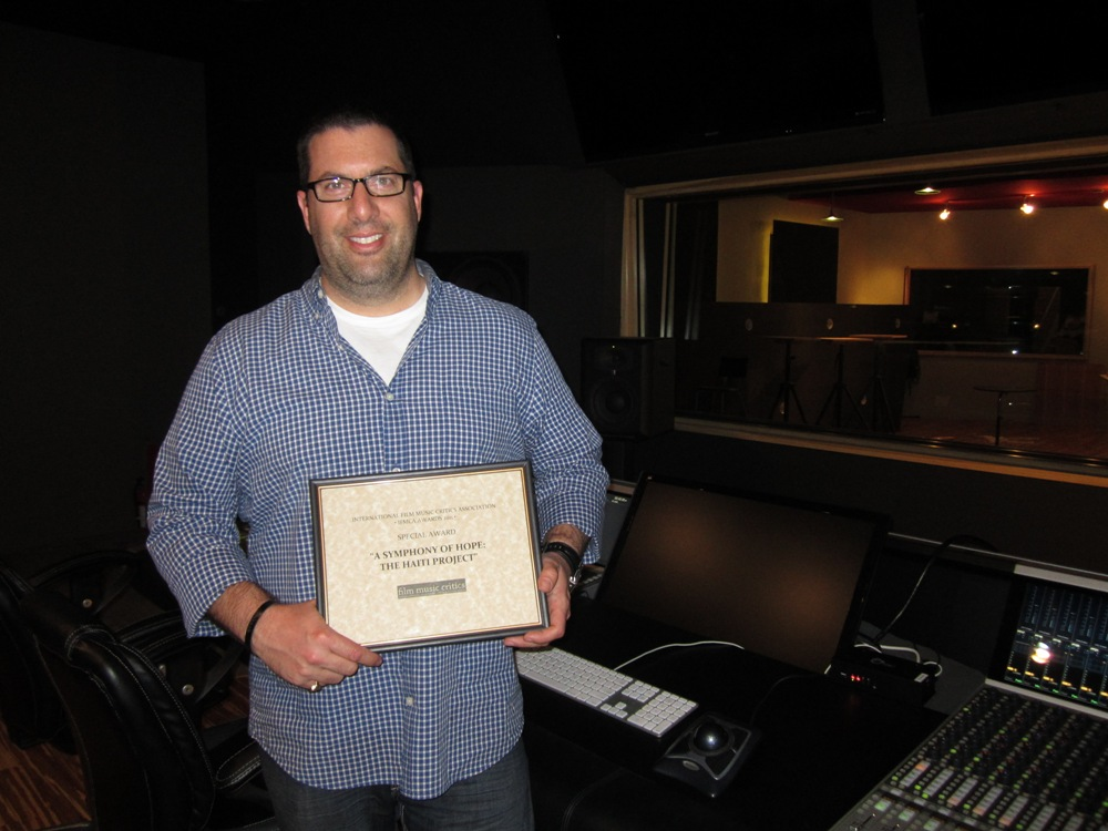 Christopher Lennertz accepts IFMCA Special Award for A Symphony of