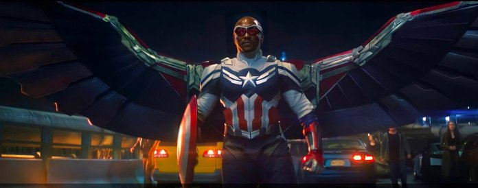 Sam Wilson as Captain America in Falcon and the Winter Soldier Marvel Studios Disney plus Shows