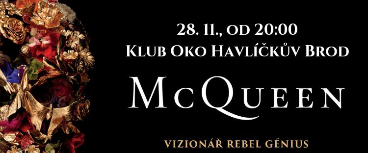 Dokumentární film McQueen uvidí diváci Filmového OKA ve středu 28. 11. 2018