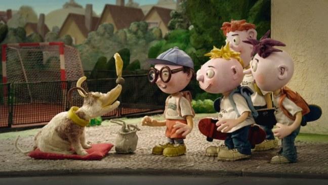 Psí historie je název animovaného filmu Břetislava Pojara z cyklu animovaných pohádek Pojar dětem. Na obrázku se malých chlapec seznamuje s dalšími kamarády i s roztomilým psem