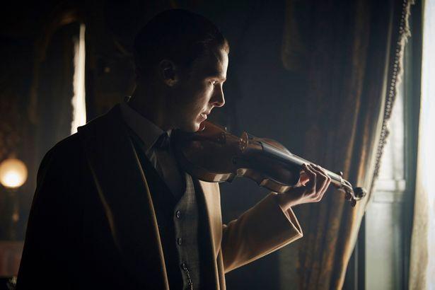 Sherlock playing the violin