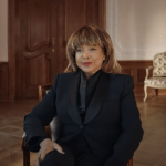 Tina Turner sits for an interview in the documentary Tina (2021).