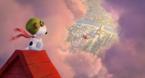 707_150_175_4K_UniversalColor_WB_: Snoopy takes to the skies over Paris, to battle his arch nemesis. Photo credit: Twentieth Century Fox & Peanuts Worldwide LLC
