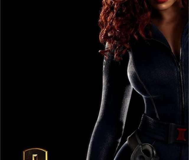 Iron Man  The Sexy Black Widow Wondercon Poster