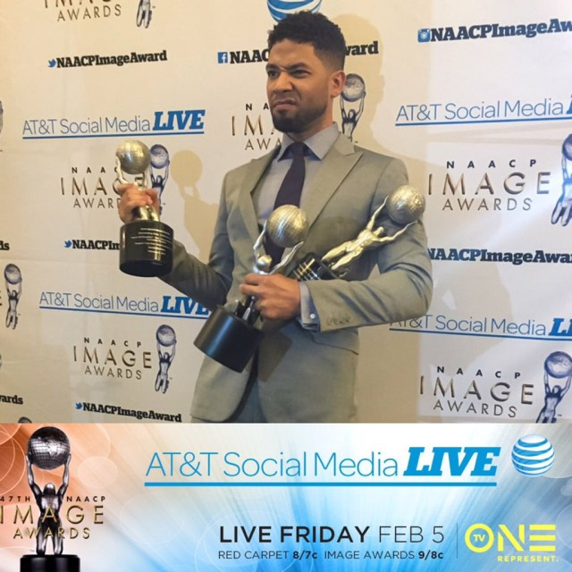 Jussie Smollet - 2016 NAACP Image Awards