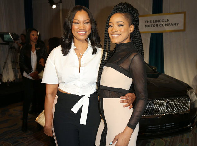 Actresses Garcelle Beauvais (L) and Keke Palmer