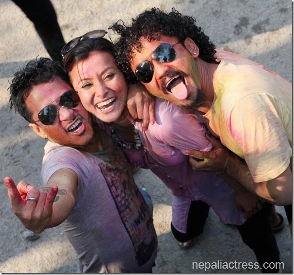 Namrata-Shrestha-raymon-Karma-holi-2013-Attic-Bar