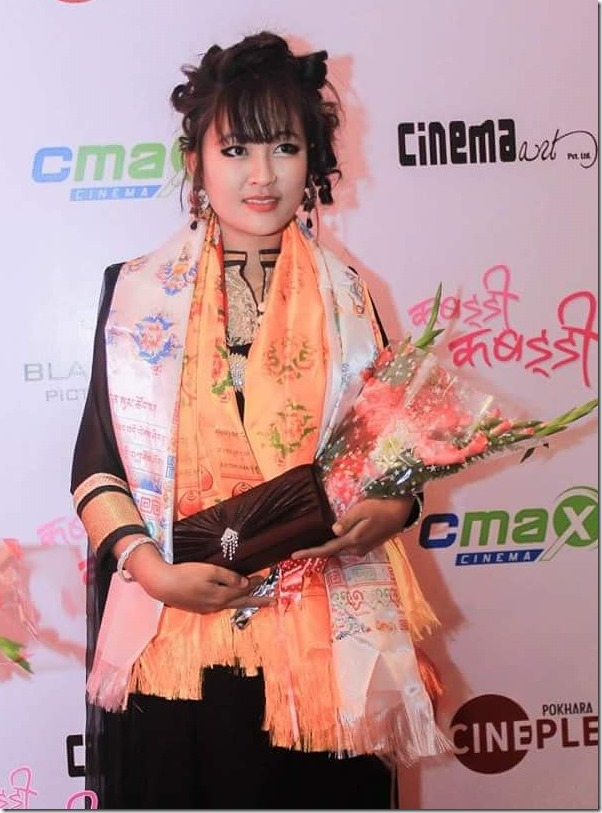rishma gurung in premier show of kabaddi kabaddi