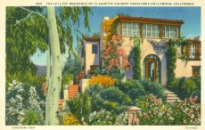 Residence of Claudette Colbert (1903-1996). Postcard: Western Publishing and Novelty Co., Los Angeles (from the archive of Leo Verswijver)