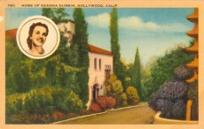 Residence of Deanna Durbin (1921-2013). Postcard: Western Publishing and Novelty Co., Los Angeles (from the archive of Leo Verswijver)