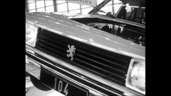 ... a detail of the latest model of a Peugeot.