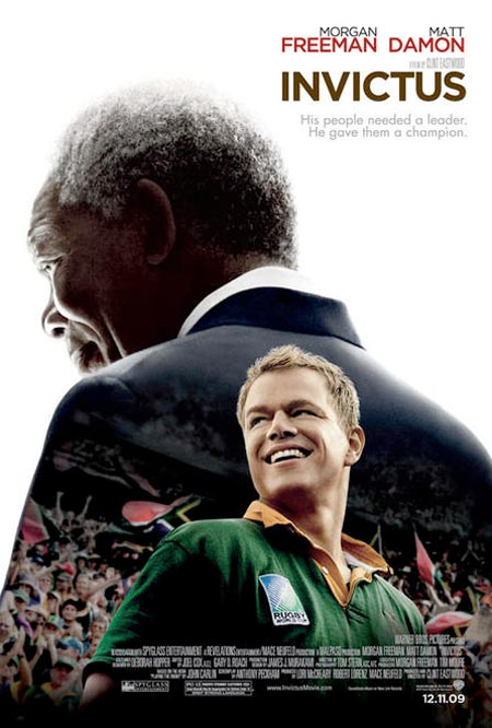 """Poster for Clint Eastwood's """"Invictus"""""""