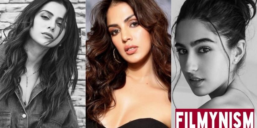 Rhea Chakraborty, Sara Ali Khan, Rakulpreet Singh (FILMYNISM)