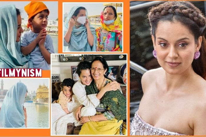 Kangana Ranaut with her family in Amritsar-FIlmynism