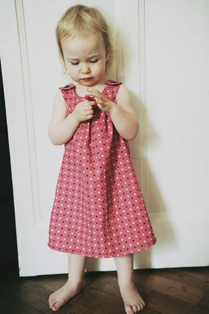 robe en velours à pois - Filomenn