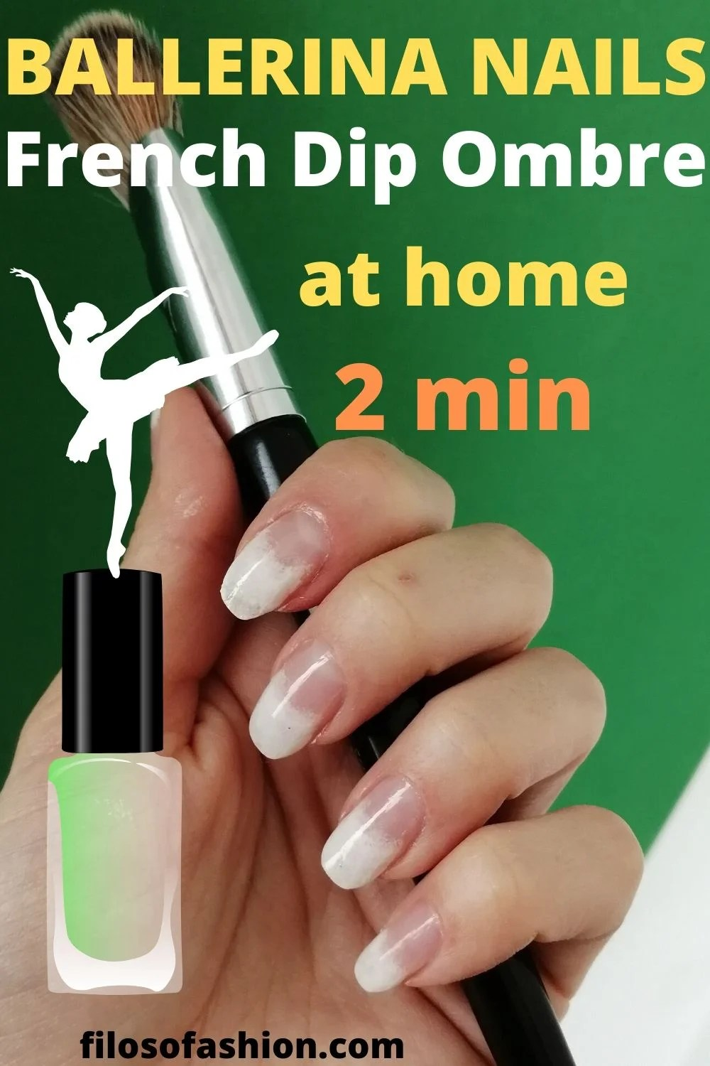 French Ombre Nails Ballerina Shape Nails At Home