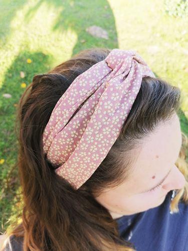 Bandeau pour cheveux multi couleurs fleurs mysosotis