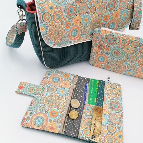 Portefeuille avec porte monnaie et porte cartes